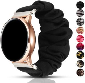 20 22mm Scrunchies Elastic Watch Band for samsung galaxy watch 46mm 42mm active 2 huawei watch GT2 Strap gear s3 amazfit bip