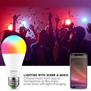 Image 5 - New Wireless Bluetooth Smart Bulb LED 10W RGB Magic Lamp E27 Color Change Light Bulb Smart Home Lighting Dimmable  IOS / Android
