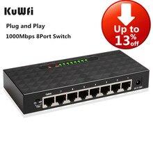 Get more info on the KuWFi 8Port Gigabit Switch Ethernet Smart Switcher High Performance1000Mbps Ethernet Network Switch RJ45 Hub Internet Splitter