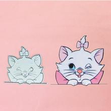 Lovely Marie Cat bow Metal Cut Die Stencils for Scrapbooking Stamp/photo album Decorative Embossing DIY Paper Cards