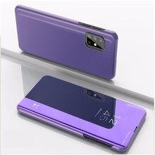 Funda con tapa de espejo para Samsung Galaxy A31 A315F, carcasa con soporte protector para teléfono móvil Samsung Galaxy A31 A315F, Cartera de lujo de 6,4 pulgadas A 31