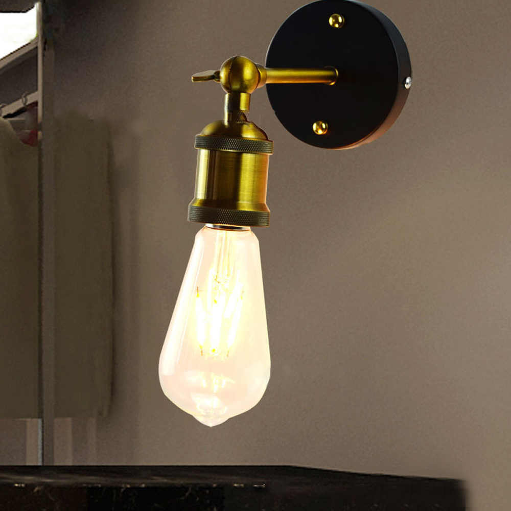 DIDIHOU Vintage duvar lambası siyah E27 Retro aplikleri duvar lambası endüstriyel demir duvara monte lambalar iç mekan aydınlatması 1 adet