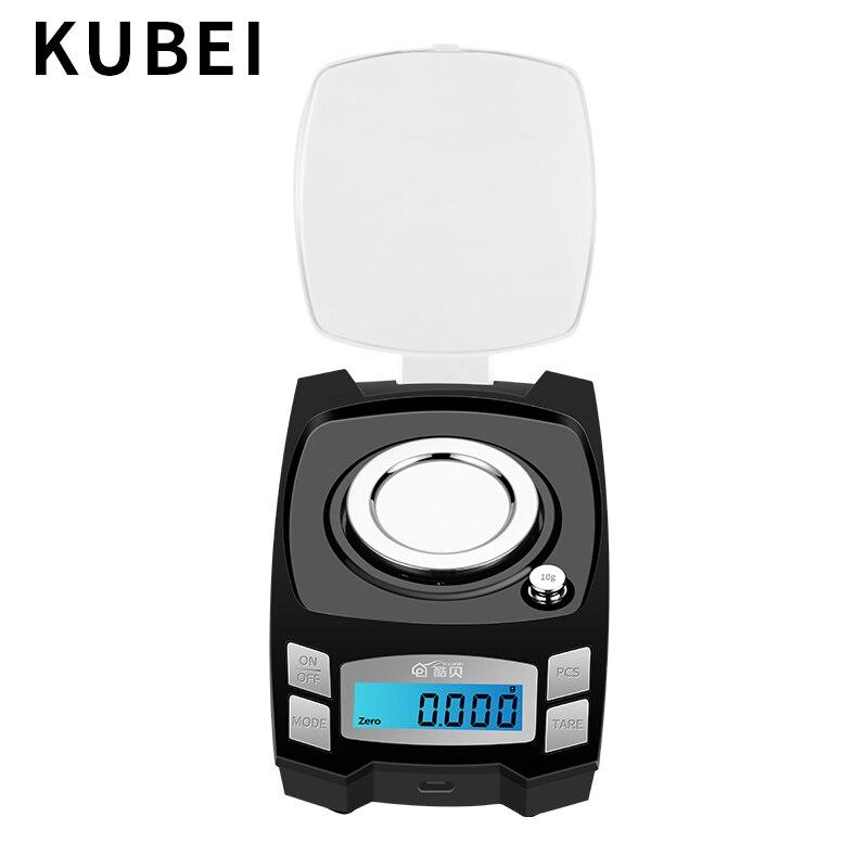 KUBEI précision balance électronique 0.001g haute précision bijoux échelle or bijoux Instrument de pesage électronique Digita balance