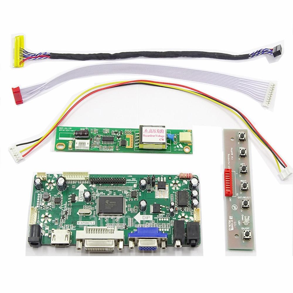 Latumab New LCD LED LVDS Controller Board Driver Kit For B156XW01 V.0 HDMI + DVI + VGA