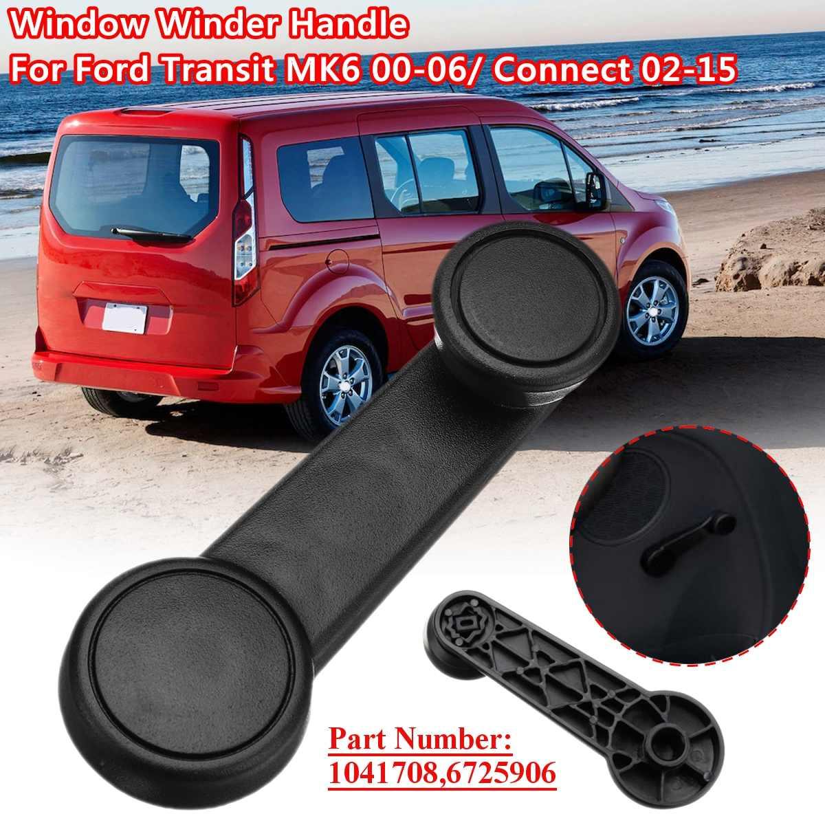 2pcs Car Window Regulator Handle For Ford Transit MK6 00-06 Connect 2002-2015 1041708 6725906 95VB-V23342-ABYYCT