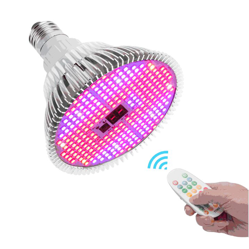 NEW Timing LED Grow Light Full Spectrum E27 Growing Bulb For Indoor Hydroponics Flowers Plants Phyto Lamp VEG And Bloom