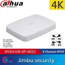 Dahua NVR network DVR NVR4108 8P 4KS2 Video Recorder 8CH Smart 1U 8PoE port 4K&H.265 Up to 8MP Resolution Max 80Mbps