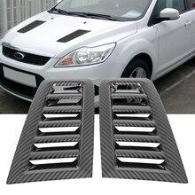 Uxcell 3-цветные вентиляционные отверстия для капота-Ford Focus MK2 MK3 2004-15, воздухозаборник, декоративный ковш, крышка для вентиляционного отверстия