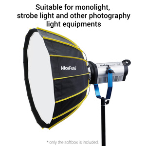 Image 5 - NiceFoto Studio Fast Installation Hexagonal Softbox 60cm / 23.6inch with Soft Diffuser Cloth for Speedlite Photography Light
