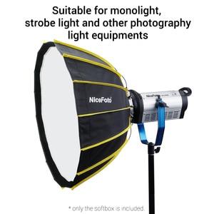 Image 5 - NiceFoto stüdyo hızlı kurulum altıgen Softbox 60cm / 23.6 inç ile yumuşak difüzör kumaş Speedlite fotoğraf ışığı