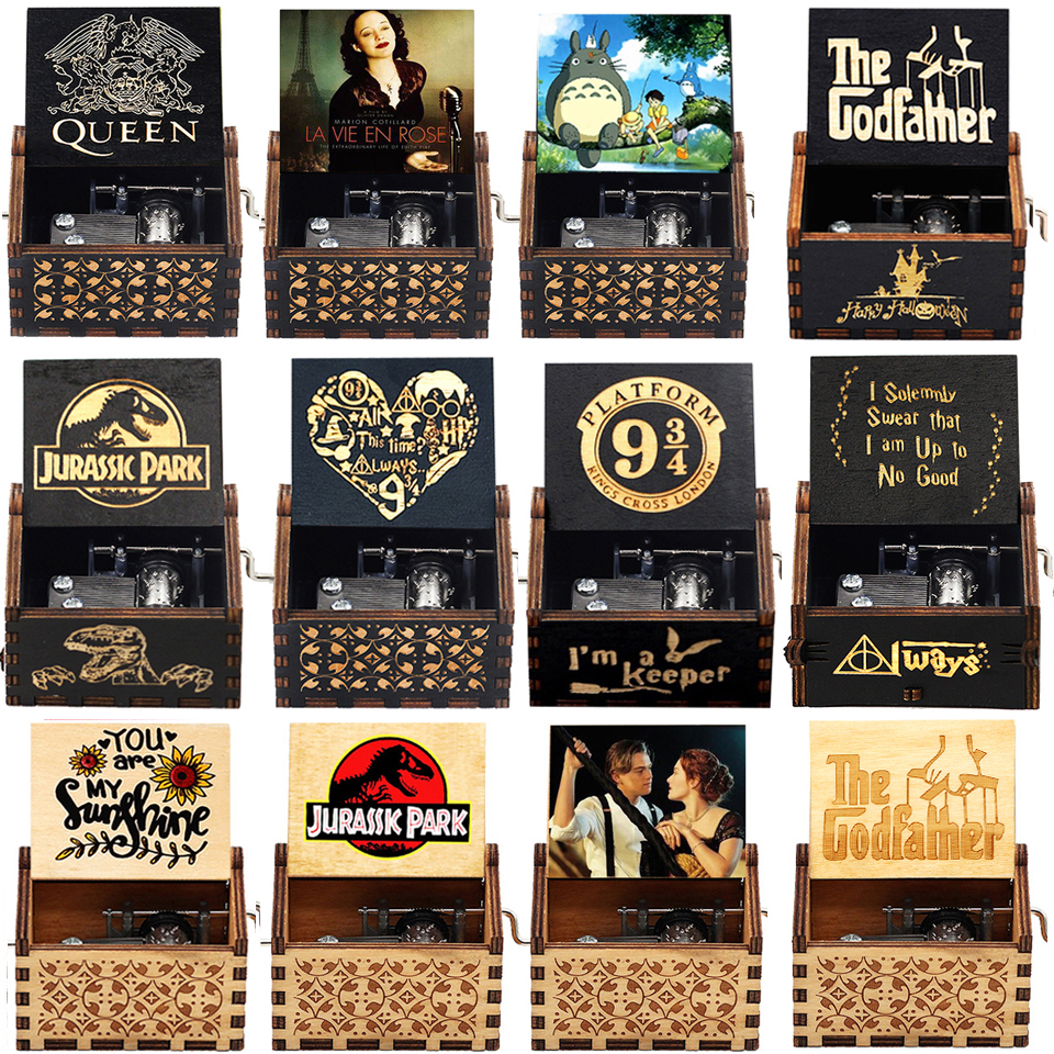 NEW Music Box QUEEN Lots Of Styles Jurassic Park Wooden Hand Christmas Birthday Valentine's Day Gift New Year Gift 1