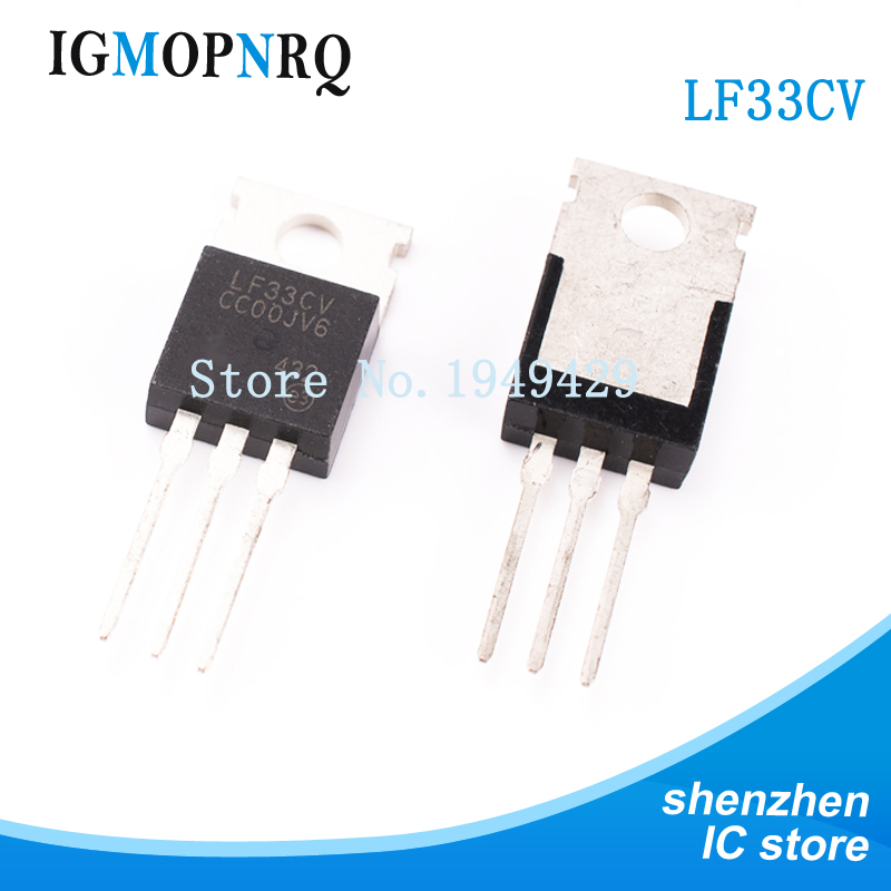 10PCS LF33CV TO-220 LF33 Low Dropout Voltage Regulator 3.3V 500mA Positive New Original Free Shipping