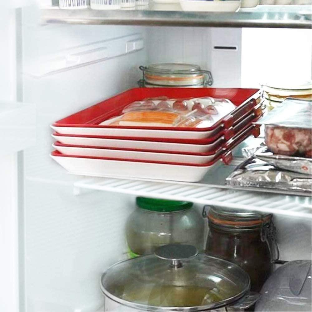 8 шт творческие Еда: отделение для хранения Пластик Еда Набор органайзеров для хранения свежих Еда сервировочный поднос Кухня накладки декоративный поднос-1