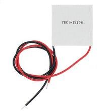 1 pces TEC1-12706 12706 tec thermoelectric cooler peltier 40*40mm 12v novo da refrigeração do semicondutor