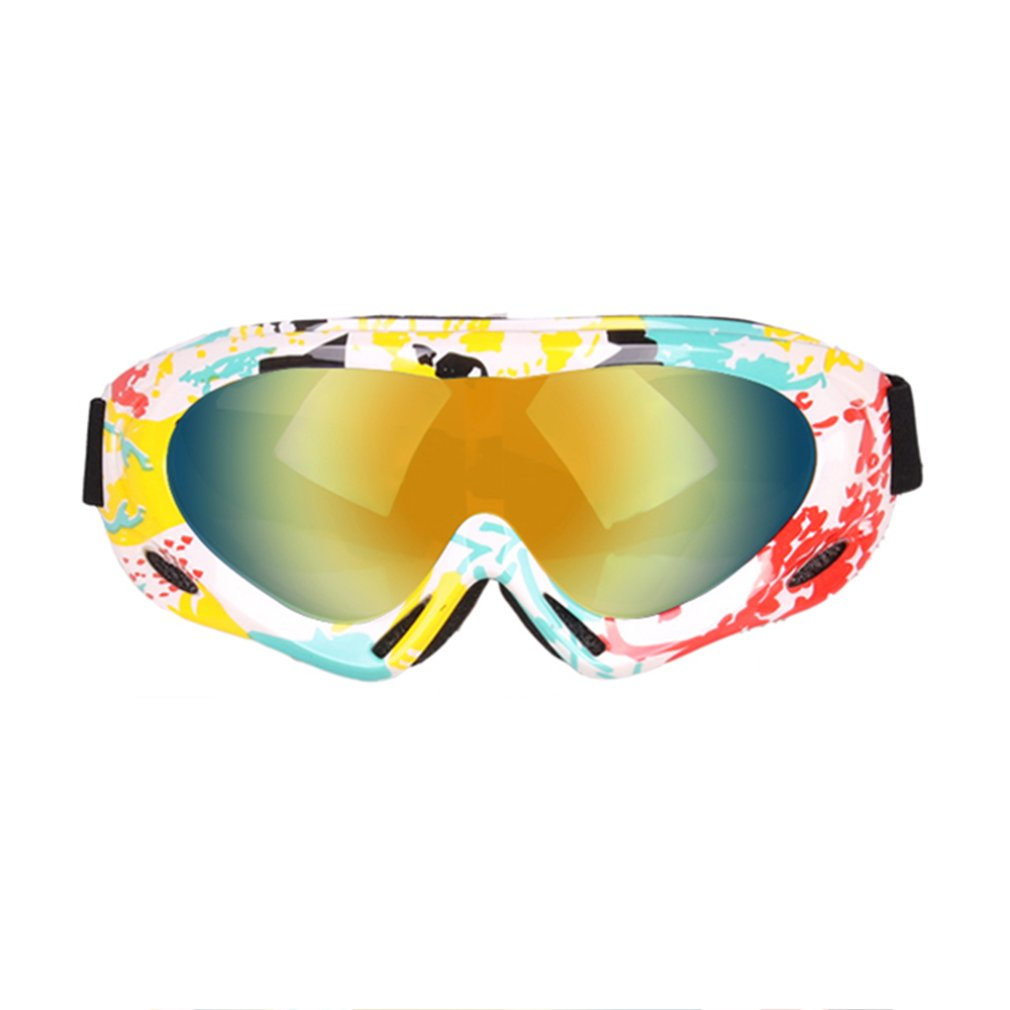 Adult Children Colorful Ski Glasses Single Layer Professional Snow Goggles Windshield Off-road Motorcycle Mirror Outdoor