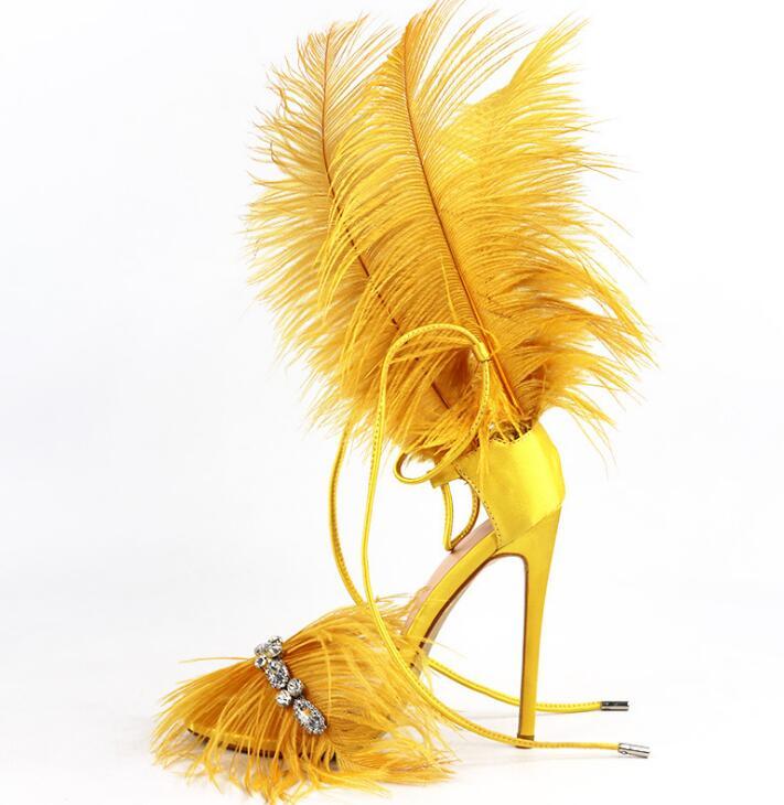 Fourrure piste chaussures cristal caractéristique Dexor luxe talons hauts sandales bout ouvert femmes créateur à lacets chaussures mode talons aiguilles 12