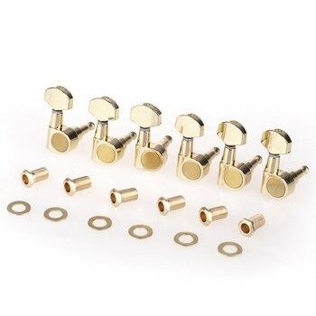 Musiclily Pro 6 в линии герметичный двойной Pin гитары тюнеры колышки ключи машинные головки набор для Squier Strat, золото