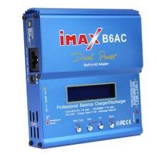 Imax b6ac bateria balance carregador de armazenamento de dados de monitoramento de tensão de entrada 80w lipro nimh li-ion ni-cd lítio único
