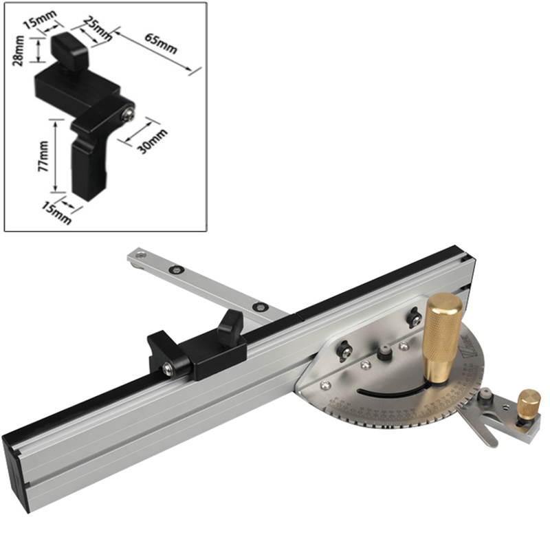 Limiter Miter Gauge With Track Stop Table Saw/Router Miter Gauge Sawing Assembly Ruler For Table Saw Router Woodworking DIY Tool