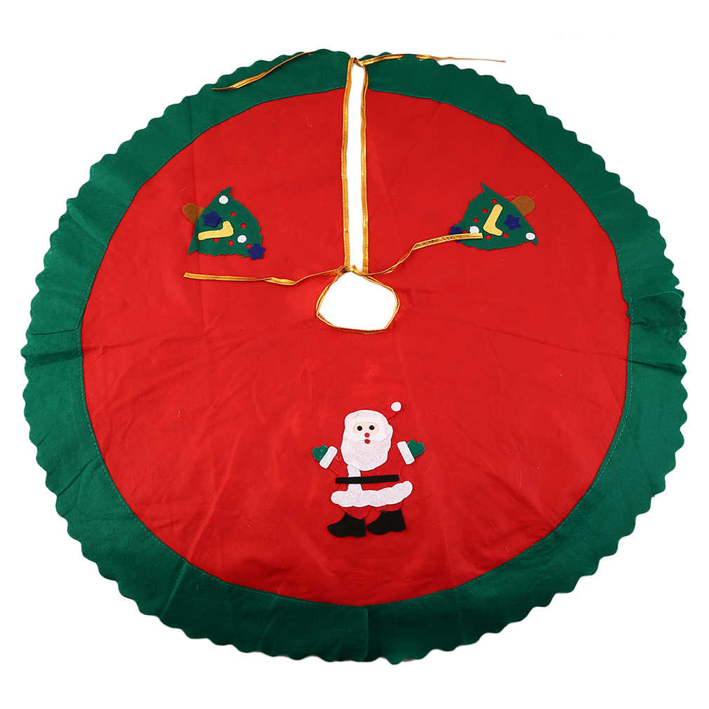 90cm Santa Claus Tree Skirt Christmas Tree Skirt Christmas Tree Decoration Christmas Supplies Christmas Decoration
