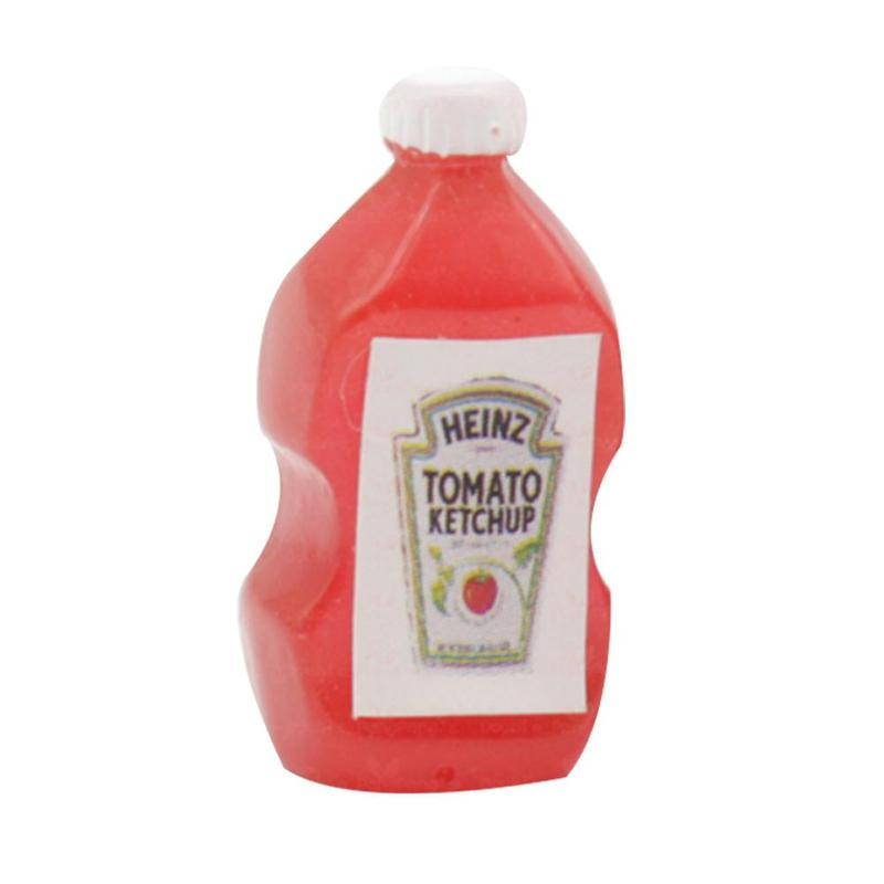 Dolls House Tomato Ketchup /& Mustard Bottles Kitchen Cafe Accessory