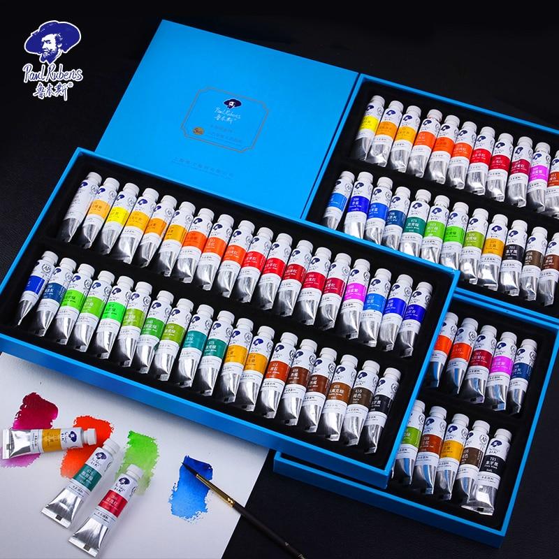 Paul Rubens 18/24/36 Colors Watercolor Paint Set 5ml Professional Transparent Watercolor Pigment For Artist School Supplies