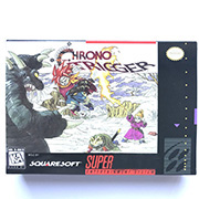 Chrono Trigger 16bit game cartridge with box US Version image