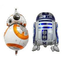 Star wars foil balão R2-D2 BB-8 jedi samui balão da folha para a festa de aniversário das crianças balão decoração do bebê brinquedos