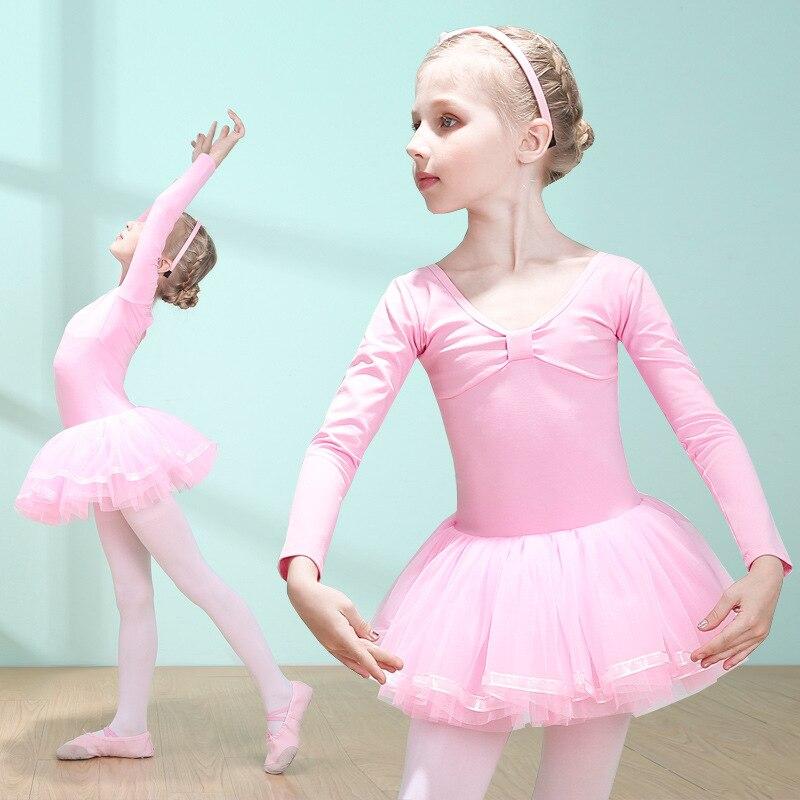 CHILDREN'S Dancing Clothes Girls Autumn Exercise Clothing Summer Short-sleeved New Style Little Girl Ballet Skirt