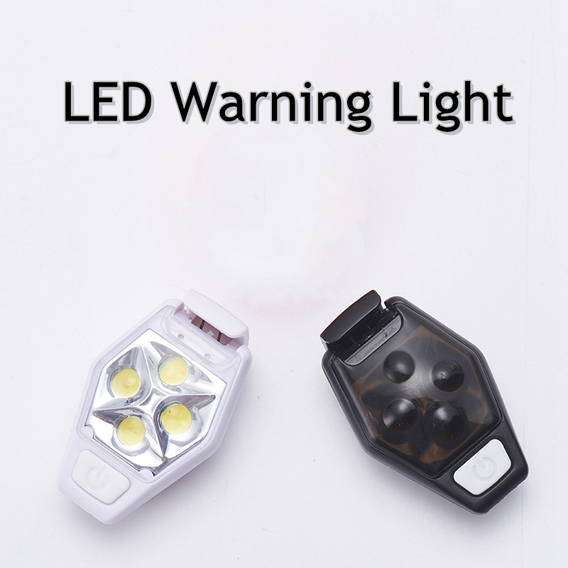 LED Safety Warning Lamp Outdoor IPX4 Mini Button Battery Powered Night Running High Quality ABS Stroboscopic Signal Clip Light