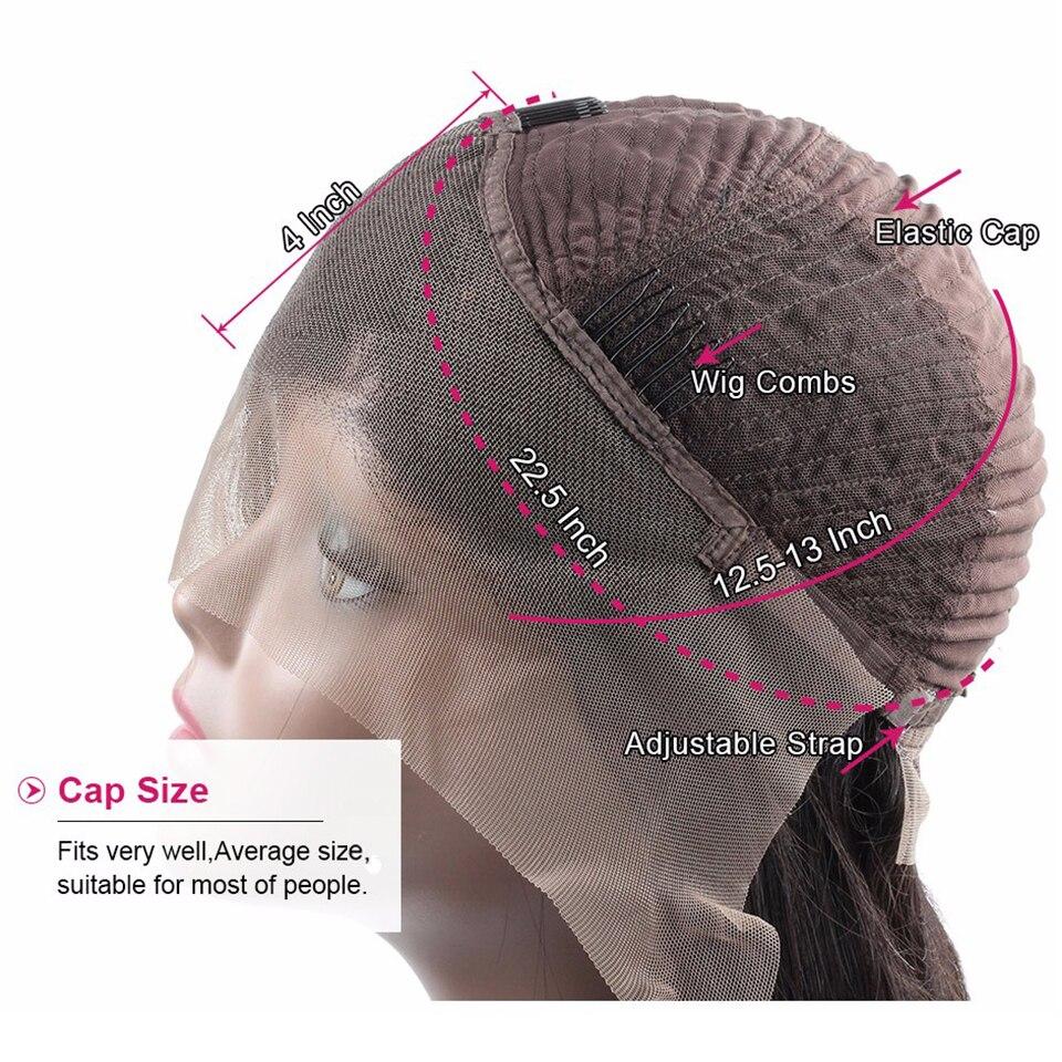do cabelo humano 150% perucas da parte
