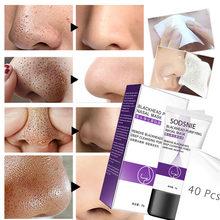 Dissolvant de points noirs, masque facial pour le nez, masque noir pour la déchirure des pores, traitement de l'acné, nettoyage en profondeur, soins pour la peau, corée