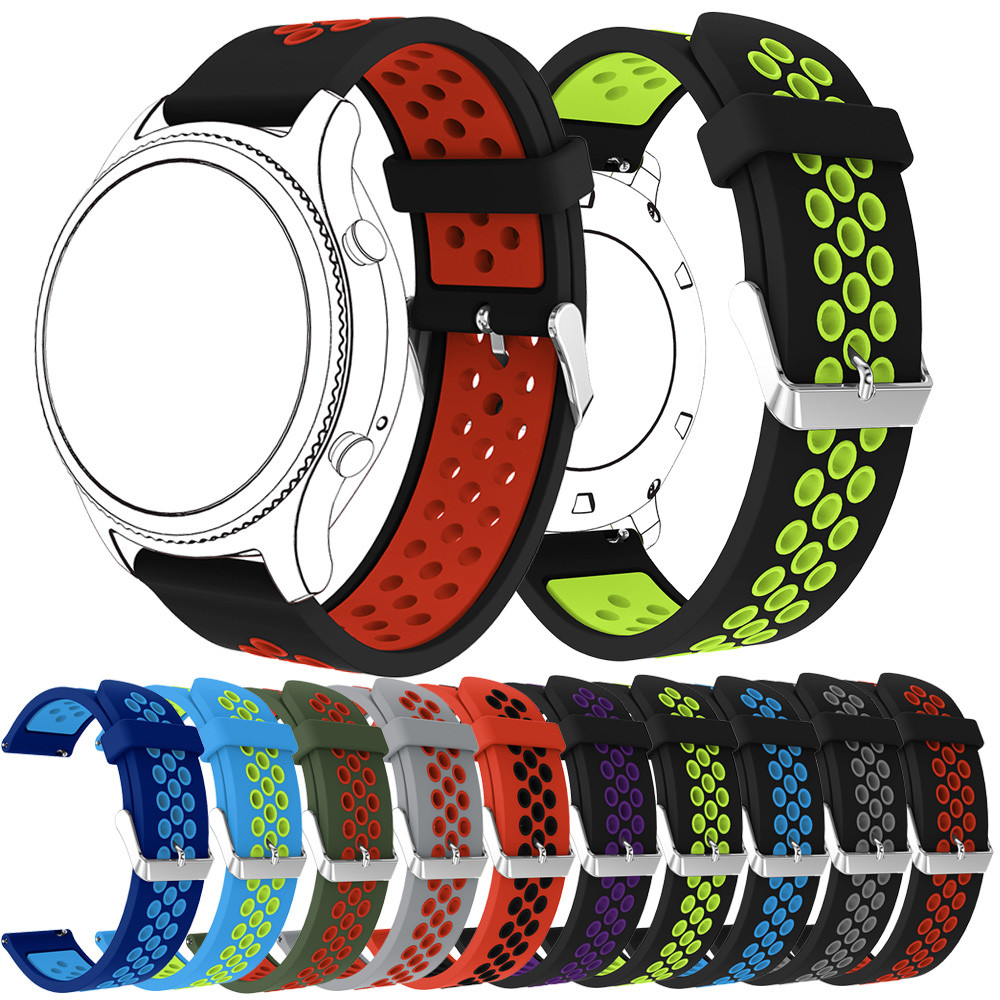 Sport Band For Samsung Gear S3 Frontier/Classic/Galaxy 46mm Silicone Replacement Wristband Rubber Watch Strap Bracelet Watchband
