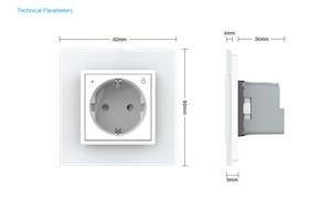 Image 4 - Livolo EU Standard New Smart Wifi Power Socket,Crystal Glass Panel, smartphone 16A Wall Power Socket, wifi app,aleax,googel home