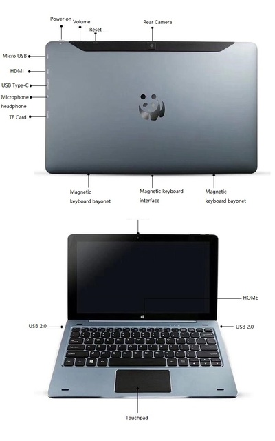 11.6 INCH 4GB DDR+128GB NC01 Windows 10 CPU 8300 TabletPCWith Pin Docking Keyboard 1920* 1080 IPS DualCameras HDMI-Compatible 5