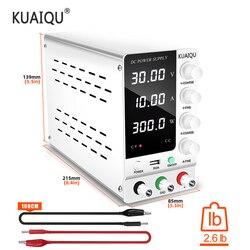 Регулируемый источник питания постоянного тока 30 в 10 А светодиодный цифровой лабораторный настольный источник питания стабилизированный ...