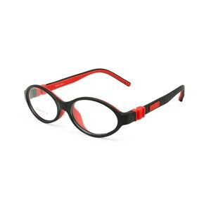 Image 1 - سيليكون النظارات الإطار حجم 45 مللي متر لا المسمار آمنة مرنة البصرية انحناء الاطفال النظارات الفتيان الفتيات