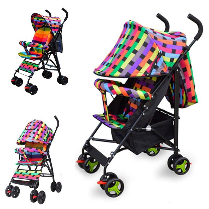 Summer Portable Light Full Half Umbrella Small Baby Stroller for Travelling Quicksmart Folding Baby Pram Pushchair 0~3 Years
