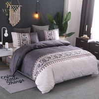 YuXiu Luxury European Bed Linens Quilt Duvet Cover Set Designer Bedding Sets Full Double Queen King Size Home Textiles