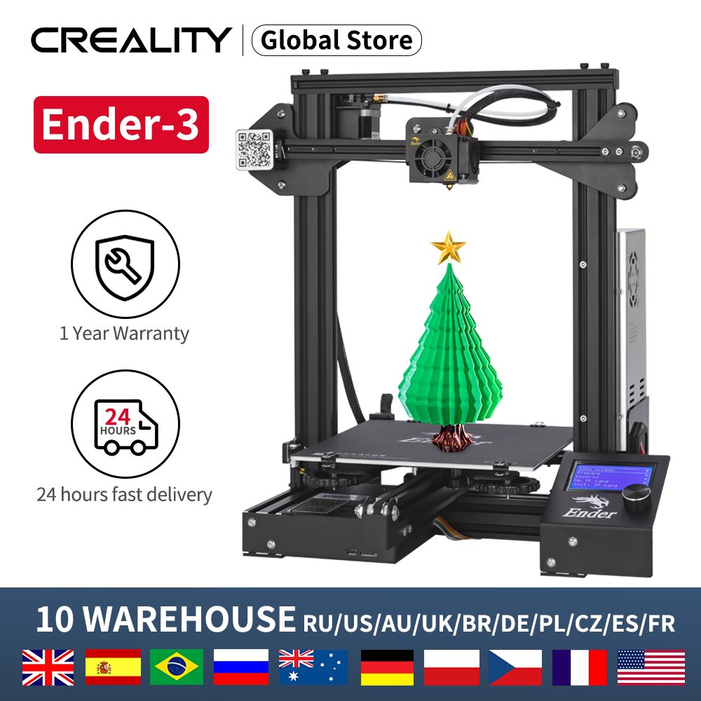 CREALITY 3D Ender-3 Ender-3X Printer Kit Print Mask Full Mental With PLA PETG  TPU High Precision 3D Printer kit impressora