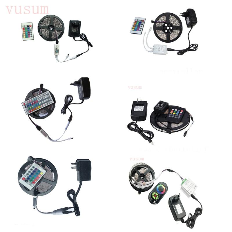 WiFi 5m 10m  LED Strip Light RGB Waterproof SMD 5050 3528 DC12V Rgb String Diode Flexible Ribbon WiFi Contoller +Adapter Plug