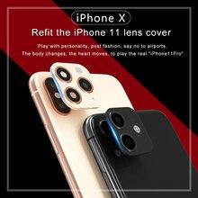 Роскошный металлический чехол для объектива камеры для iPhone 11 Pro MAX, защитный чехол-кольцо для iPhone X XS MAX XR, защитный чехол для камеры