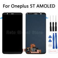 6.01 For OnePlus 5T LCD Display Touch Screen digitizer Assembly replacement For OnePlus 5T A5010 Mobile Phone LCD Repair Parts
