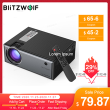 Blitzwolf BW VP1 LCD Projector 2800 Lumens Support 1080P Input Multiple Ports Portable Smart Home Theater With Remote Control