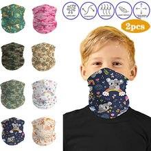 2pc enfants en plein air Bandana cou guêtre écharpe masque de soleil Protection solaire couverture du visage Tube masque anti-éclaboussures couverture du visage pansement 2020