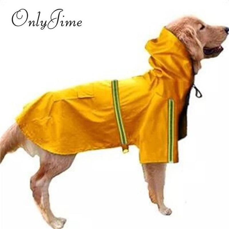 Только Jime дождевик для больших собак Светоотражающая куртка комбинезон водонепроницаемая одежда для домашних животных защитный плащ модн