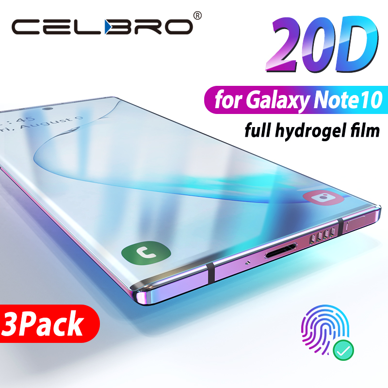 Not Glass Screen Protector For Samsung Galaxy Note 10 Plus Protector Hydrogel Protective Film For Samsung Note10 Note 10+ Cover