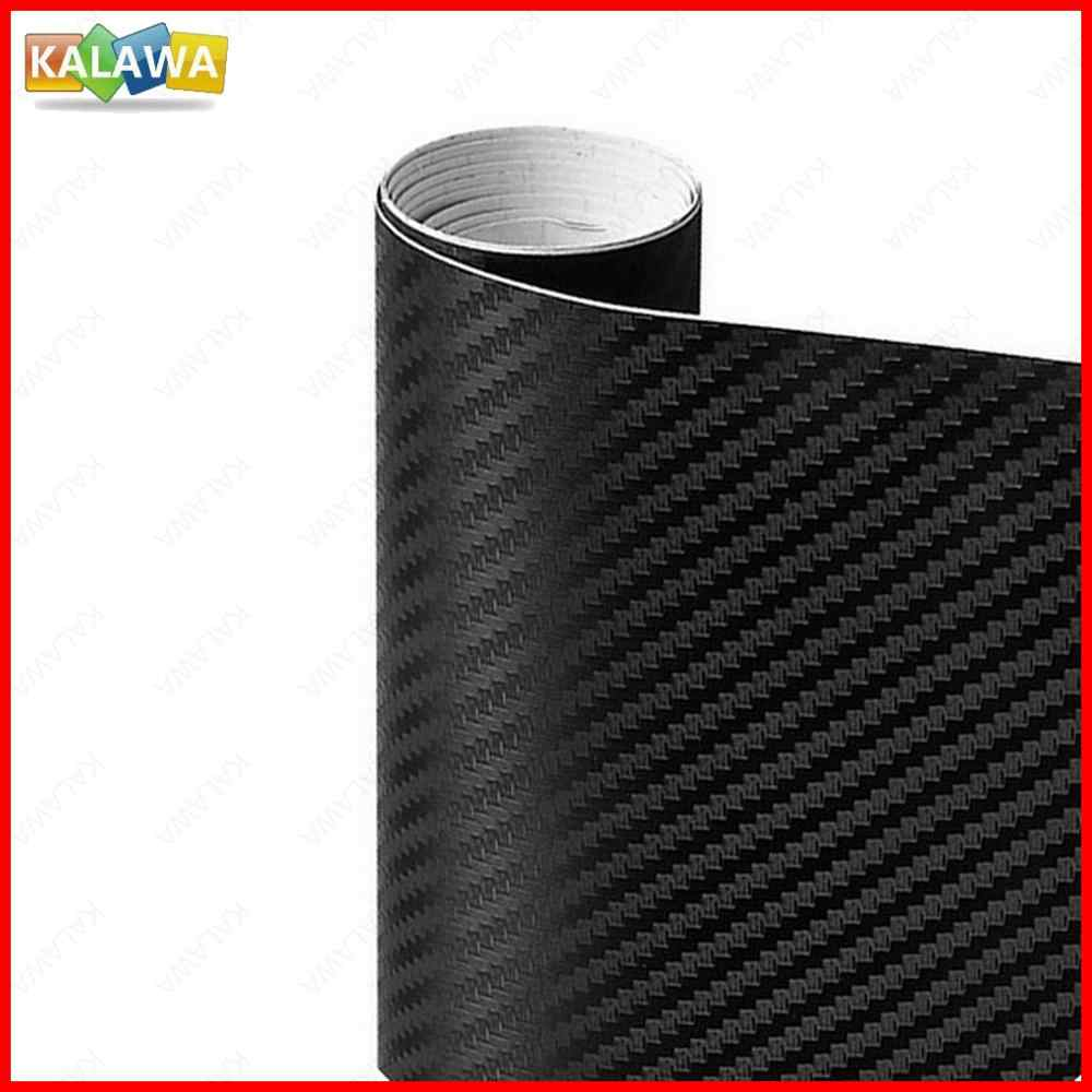 0,5x2M vinilo 3D de fibra de carbono revestimiento para coche de rollo de película tamaño múltiple Calcomanía para auto, motocicleta estilo de coche negro blanco tubo de plata