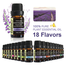 18 Flavors 10ml Flower Fruit Essential Oils For Aromatherapy