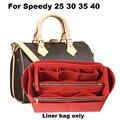 Для скоростных 25 30 35 40, настраиваемый фетровый Органайзер для сумок, сумка в сумке, сумка-тоут, органайзер (со съемным карманом на молнии), вст...